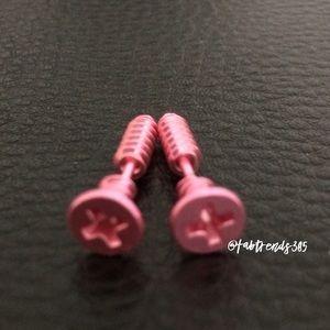 Jewelry - Pink Screw Earrings